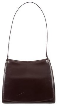 Bally Glossed Leather Shoulder Bag