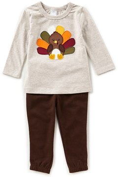 Starting Out Baby Boys 12-24 Months Thanksgiving Turkey Top & Pull-On Pants Set