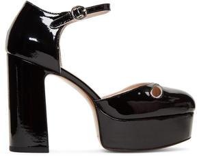 Marc Jacobs Black Patent Lucille Platform Heels