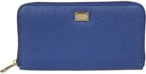 Dolce & Gabbana Genuine Zip Around Wallet - BLU - STYLE