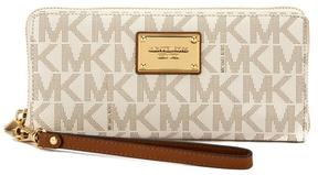 Michael Kors Vanilla Signature Canvas Jet Set Travel Continental Wallet - VANILLA - STYLE