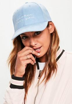 Missguided Blue Fresh Faux Suede Cap