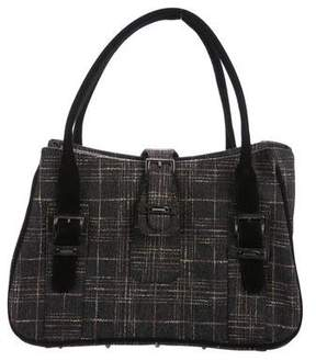 Stuart Weitzman Plaid Handle Bag