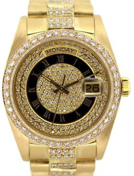 Rolex Presidential Date 18K Yellow Gold & 7ct Diamond 36mm Watch