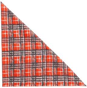 Burberry Scribble Check Cotton Scarf