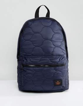 Asos Backpack In Navy Quilted Design