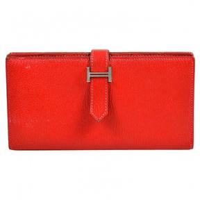 Hermes Béarn leather wallet - RED - STYLE