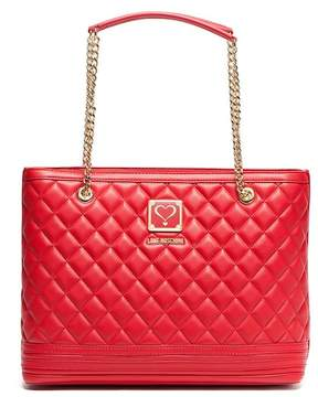 Love Moschino Chain Accent Quilted Shoulder Bag