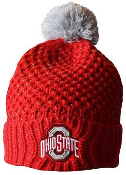 NCAA Adult Ohio State Buckeyes Defend 'Til The End Cuffed Knit Pom Beanie