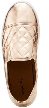 Charlotte Russe Qupid Quilted Metallic Slip-On Sneakers