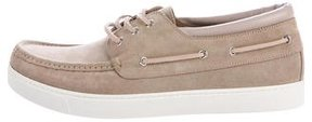 Gianvito Rossi Sloop Suede Boat Sneakers w/ Tags