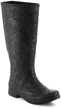 Chooka Women's Flex Fit Brocade Wide Calf Rain Boot