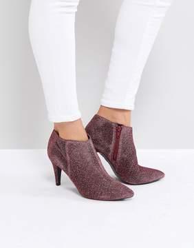 New Look Round Toe Glitter Heeled Boot