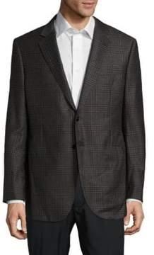 Giorgio Armani Classic Fit Plaid Tessuto-Blend Sportcoat