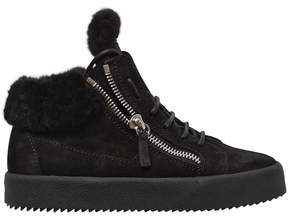 Giuseppe Zanotti Design 20mm Sherling & Suede Sneakers