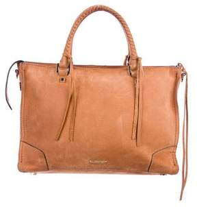 Rebecca Minkoff Suede Regan Satchel - BROWN - STYLE
