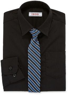 Izod Shirt + Tie Set 8-20 Boys Reg & Husky