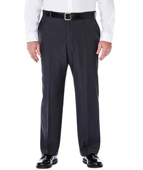 Haggar eCLo Stria Classic-Fit Flat-Front Dress Pants - Big & Tall