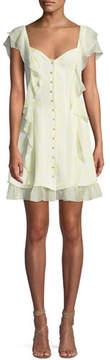 Cinq à Sept Georgia Sweetheart Button-Down Silk Chiffon Dress