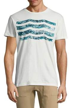 Sol Angeles Sea Foam Waves Crewneck Cotton Tee