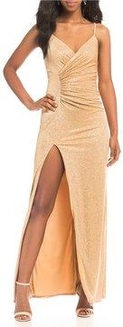 B. Darlin Sequin Knit Long Dress