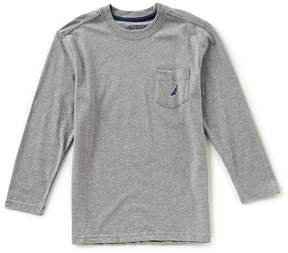 Nautica Big Boys 8-20 Long-Sleeve Pocket Tee