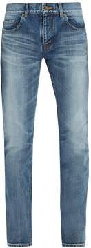 SAINT LAURENT Side-stripe slim-leg jeans