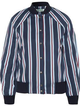 Kenzo Striped Cotton-blend Bomber Jacket - Navy