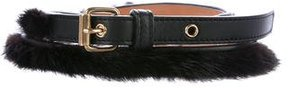 Louis Vuitton Mink & Leather Waist Belt