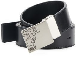 Logo-Accented Leather Belt