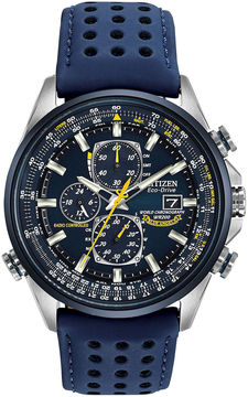 Citizen Eco-Drive Mens Blue Angels World Chronograph A-T Watch AT8020-03L