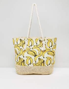 New Look Banana Shopper Beach Bag