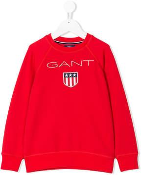 Gant Kids logo embroidered sweatshirt