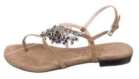 Barbara Bui Suede Embellished Sandals w/ Tags