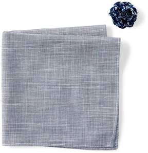 Original Penguin Corrado Solid Pocket Square & Lapel Pin Set