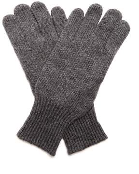 Brunello Cucinelli Cashmere and suede gloves