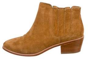 Joie Suede Pointed-Toe Ankle Boots