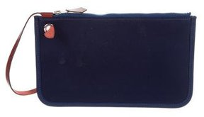 Hermes Canvas Pouch - BLUE - STYLE