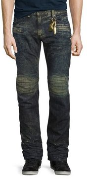 Robin's Jeans Motard Distressed Denim Jeans, Dirty Brown