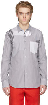 Alexander McQueen Black and White Striped Pocket Shirt
