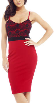AX Paris Red & Black Sweetheart Dress - Women