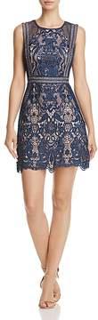 Aqua Fishnet and Lace Dress - 100% Exclusive