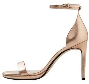 MANGO Metallic heel sandals
