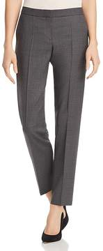 BOSS Tiluna Grid-Print Straight-Leg Pants