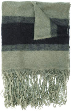 Golden Goose Deluxe Brand striped scarf with fringed hem