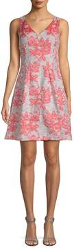 Donna Ricco Women's Brocade Fit-And-Flare Dress