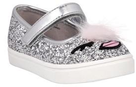 Nina Toddler Girl's Ragina Faux Fur Glitter Mary Jane Sneaker