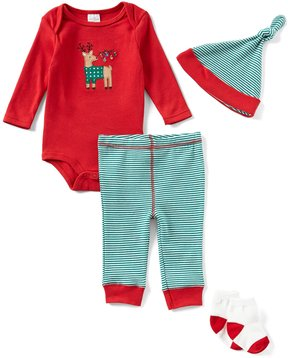 Starting Out Baby Boys Newborn-9 Months Christmas Reindeer 4-Piece Layette Set