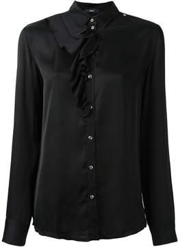 Diesel ruffle detail shirt