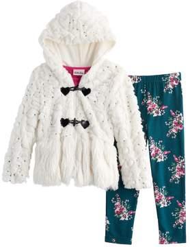 Little Lass Girls 4-6X 3-pc. Faux Fur Jacket Set
